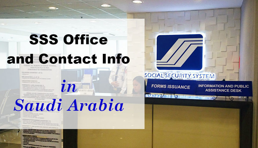 List Of SSS Overseas Offices In The Kingdom Saudi Arabia