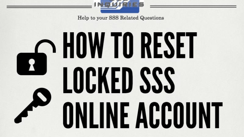 How to Reset Locked SSS Online Account