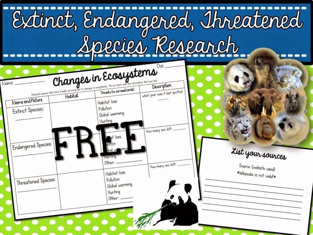 Extinct Endangered Threatened Species