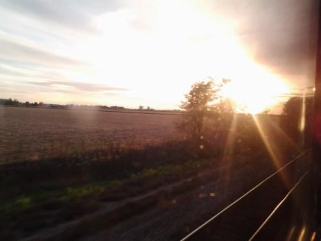 Sunset outside Galesburg, Illinois.