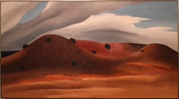 Grey Hills Painted Red, New Mexico, Georgia O'Keeffe.