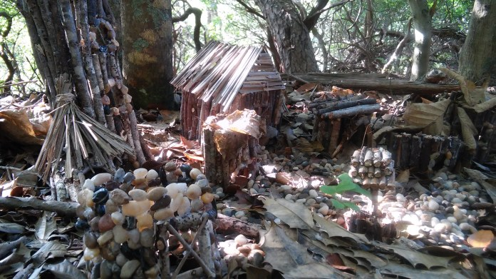 Fairy village in the woods.