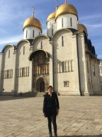 """also inside the Kremlin (+ how tall do I look in this pic?! I'm still just 5'3.75""""!)"""