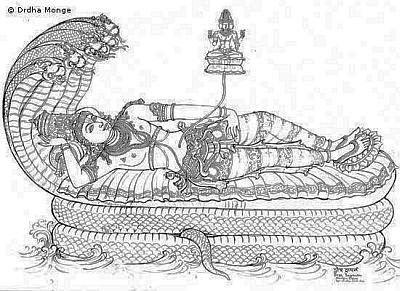 Vishnu prima parte Seshasayanam
