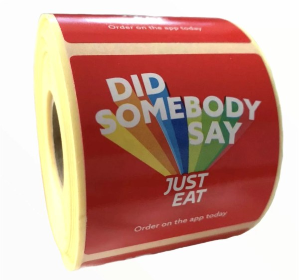 just eat food wrapper stickers