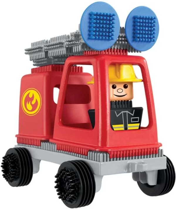 Stickle Bricks Fire Engine captures your little ones imagination with its bright red fire engine and fire fighter character.