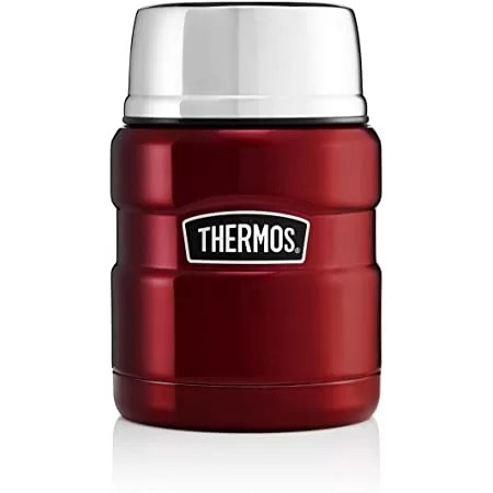 Thermos 184807 Stainless King Food Flask, Red, 470 ml