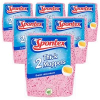 Spontex Thick Moppets, 6 Packs of 2