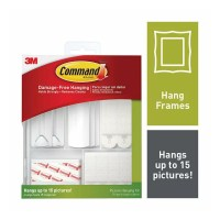 3M Command Picture Hanging Kit (17213-ES) 38 Piece Kit with 5 Free Rubbing Alcohol Wipes
