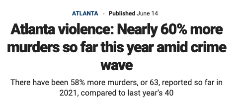 Atlanta is less safe than just 2 years ago.