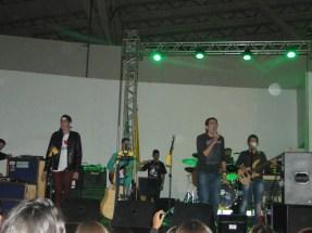 Banda Beah animando o público em Aparecida. Foto: DECOM/CMBH