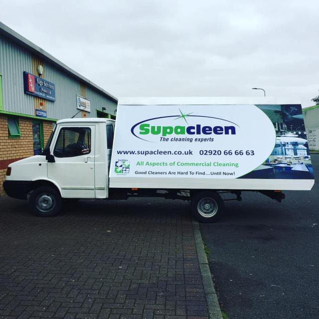 Mobile advertising for SupaCleen Cleaning exerts completed this morning