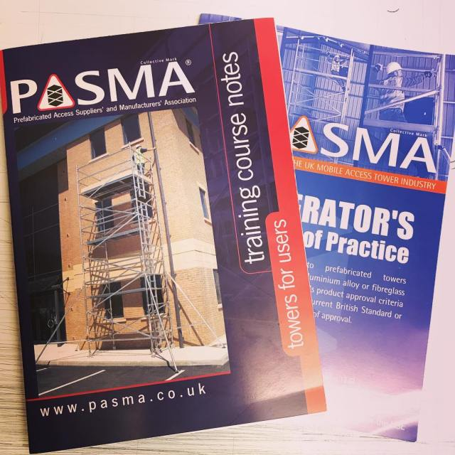 That time again.. PASMA course competed again for 3 of our fitters today