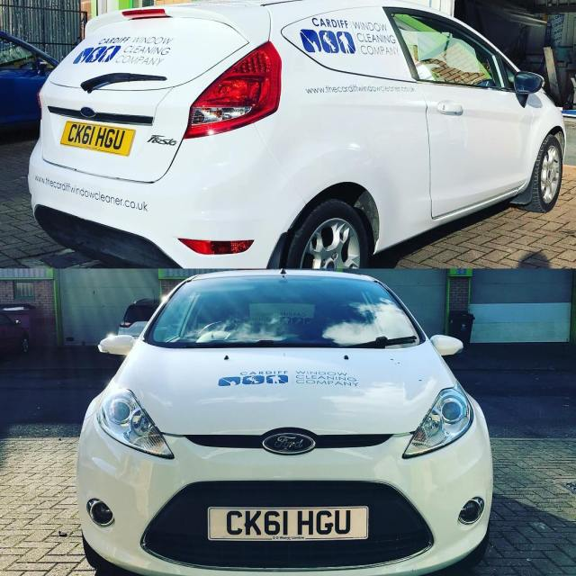 Love this mk7 Fiesta 'van' for Cardiff Window Cleaning Company