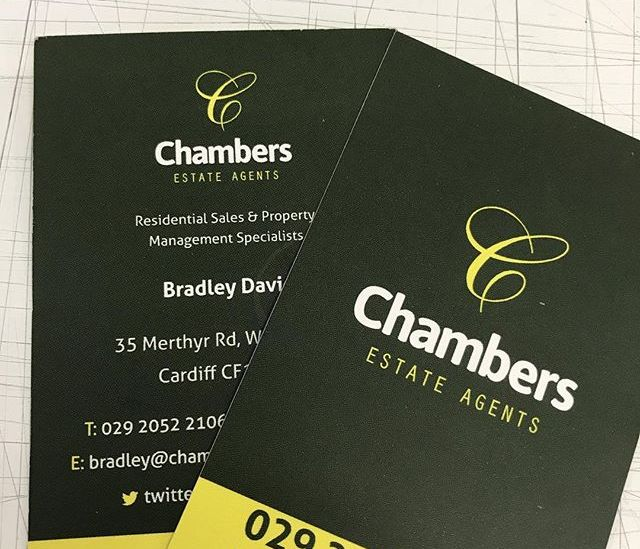 Business cards digitally printed