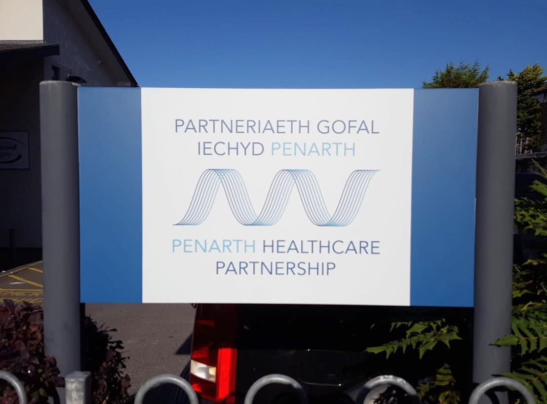 Recently produced and installed for Penarth Healthcare Partnership