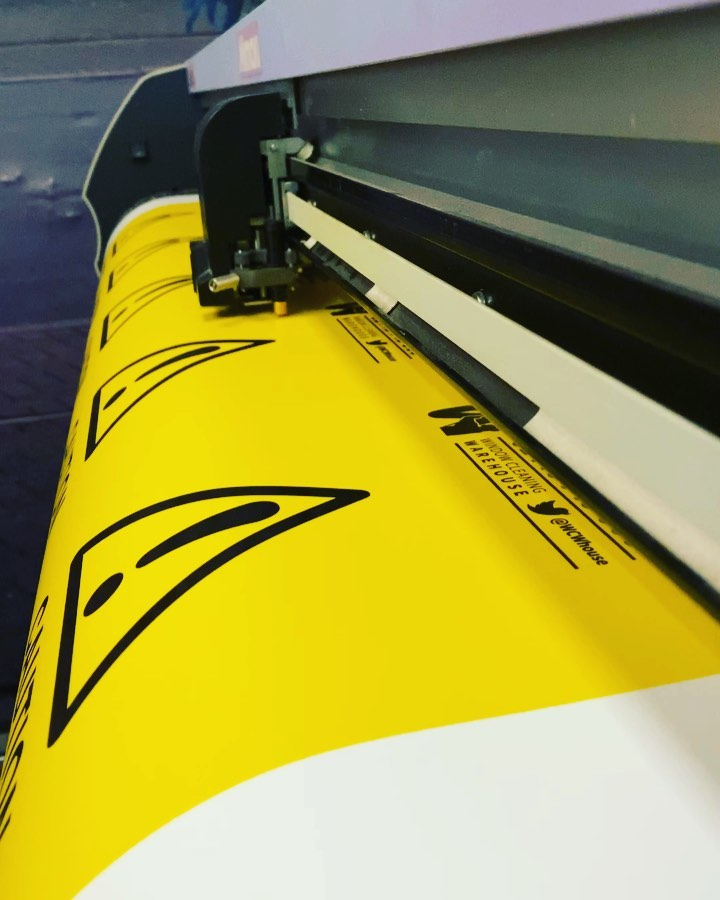 Full speed ahead printing and cutting with the Mimaki for @windowcleaningwarehouse