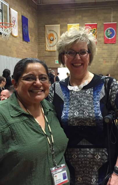 Tawna Sanchez, MSW '2012 and Dean Nissen