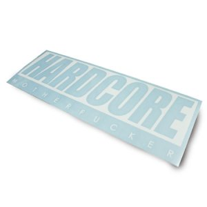 HARDCORE MF DECAL STICKER #1 WHITE/BLACK