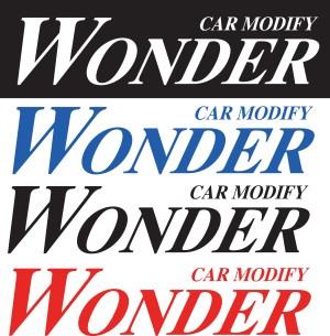 Car Modify Wonder logo Sticker Decal