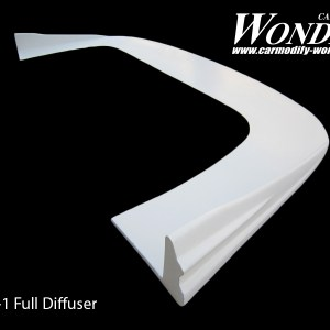 Glare Front Bumper Side Diffuser Type full-1