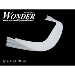 Glare Front Bumper Side Diffuser Type full-2