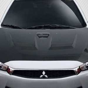 2008-2017 Mitsubishi Lancer / Lancer Evolution 10 Carbon Creations D Spec Hood - 1 Piece