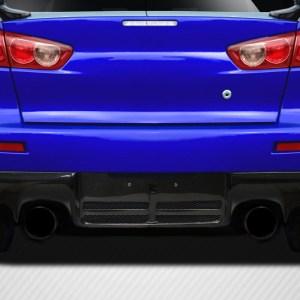 2008-2015 Mitsubishi Lancer Evo X Carbon Creations DriTech OEM Look Rear Diffuser - 1 Piece