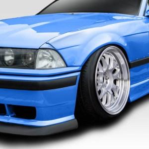 1992-1998 BMW 3 Series M3 E36 Duraflex C Spec Front Fender Flares - 2 Piece