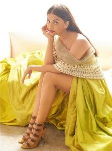Gown & dupatta styled by Manish Malhotra, Jimmy Choos shoes,