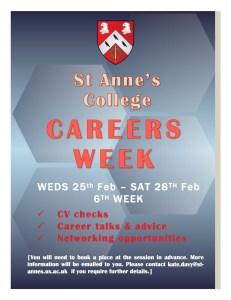 St ANNES CAREERS WEEK poster