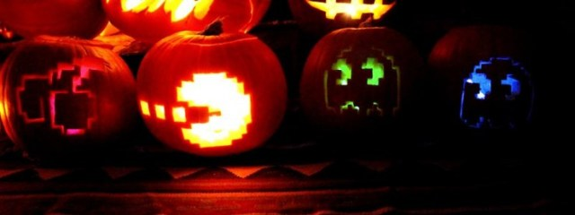 Pac man pumpkins