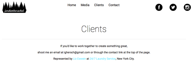 ...who is in charge of finding clients for influencer Jordan Herschel.