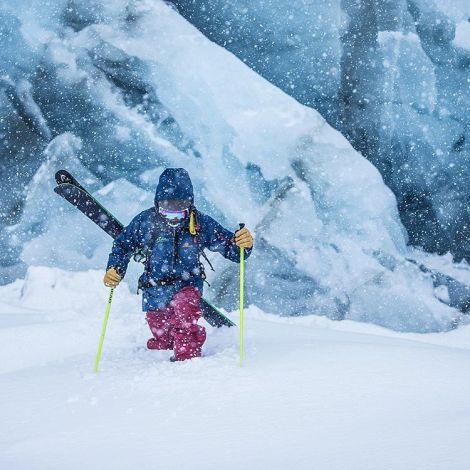 Konstantin Ottner beim Extremtest der neuen Goggles (Foto: Christoph Jorda / DELAYON Eyewear)