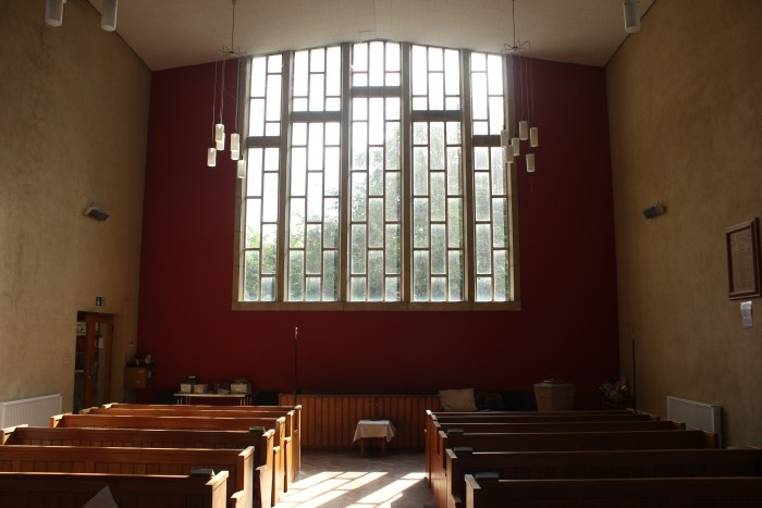 St. MAry's Tadley East window inside view