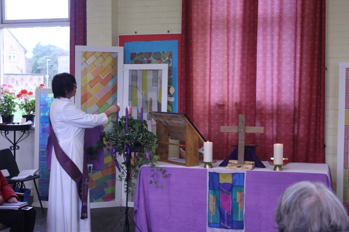 Lighting the Advent Candle