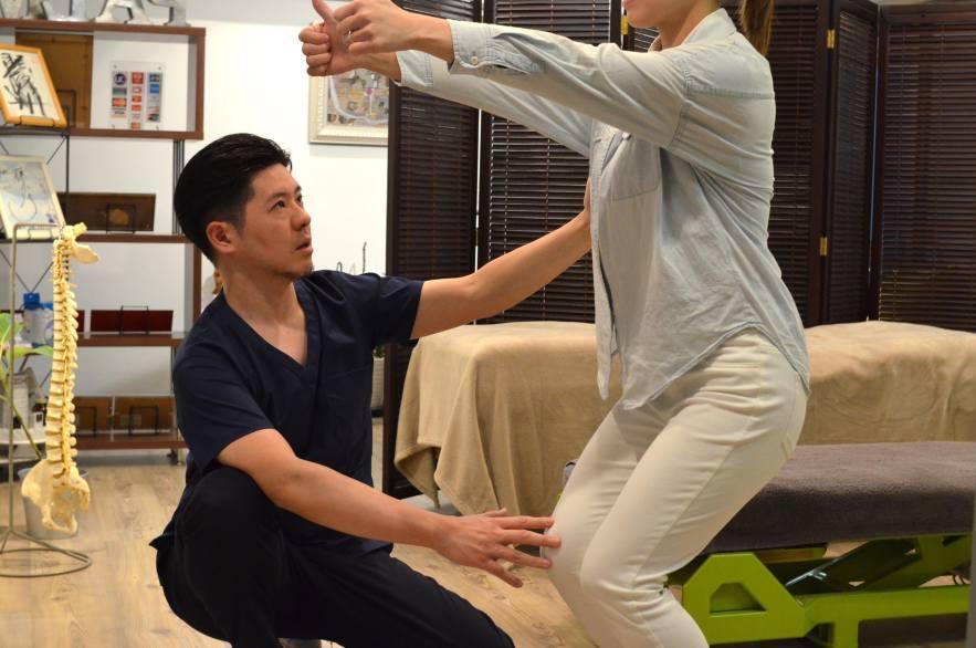頭痛改善のための体操指導