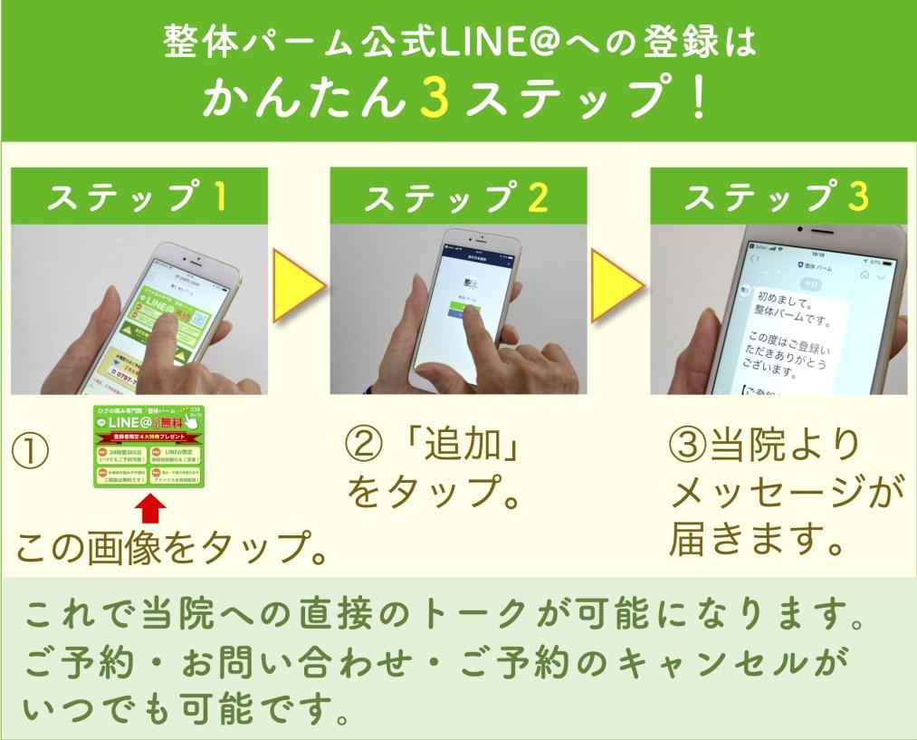 LINE登録3ステップ