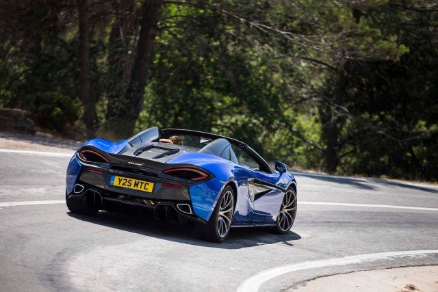 2018 mclaren 570s spider review. interesting spider so the bald numbers go like this 208800 a premium of 20200 over  coupe 3302 lbs up just 101 lbs with fluids and 90percent fuel load  for 2018 mclaren 570s spider review
