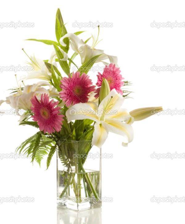 Букет из лилии и герберы — Стоковое фото © antonel #41306939