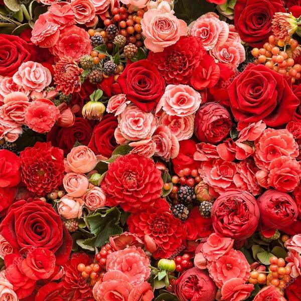 Картинк цветы. Абстрактный фон цветов — Стоковое фото ...