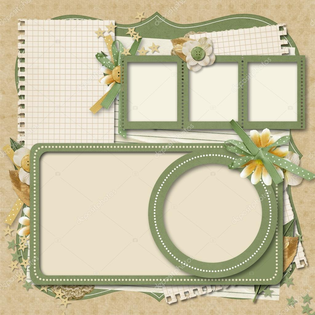 Adding a frame to almost any scrapbook element can add a beautiful finishing touch. 365 Project Scrapbooking Templates Family Album Stock Photo By C Chiffa 21624859