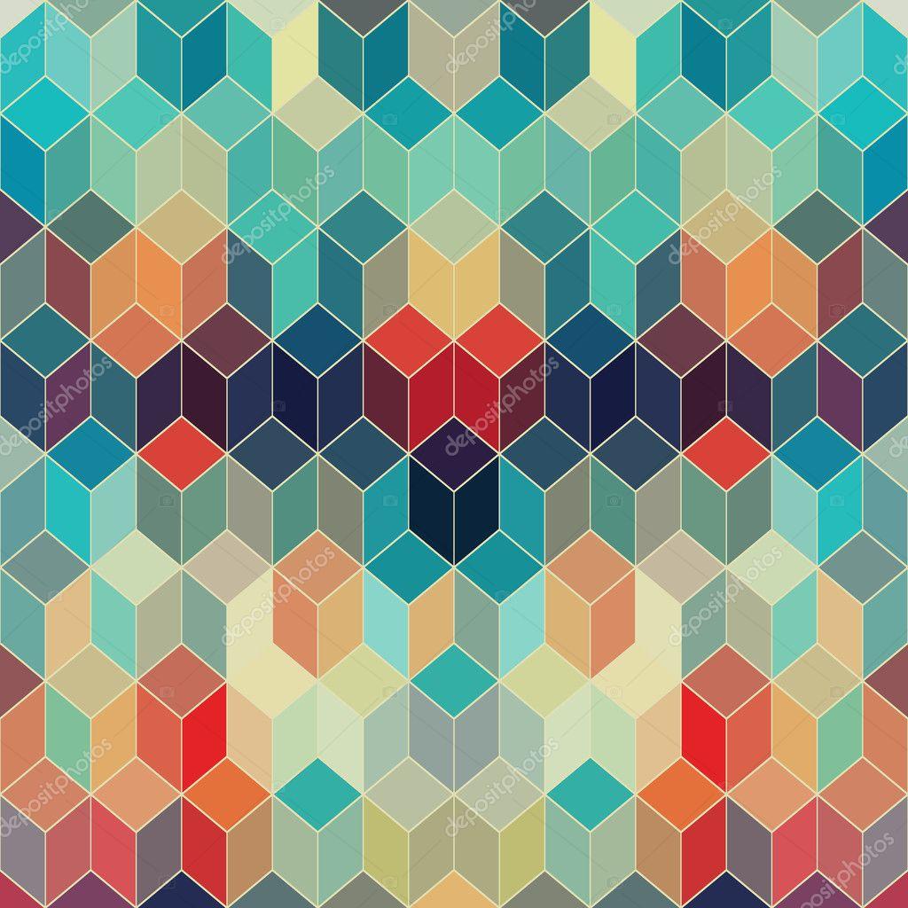 Seamless Geometric Pattern With Geometric Shapes Rhombus