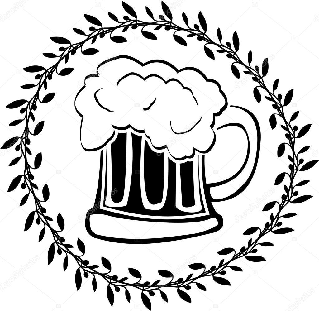 Stencil Di Vetro Di Birra