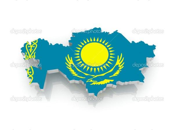 карта Казахстана — Стоковое фото © Tatiana53 #40707817