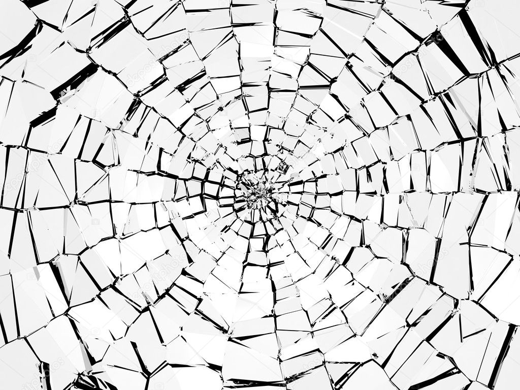 Damage And Wreck Abstract Broken Glass Pattern