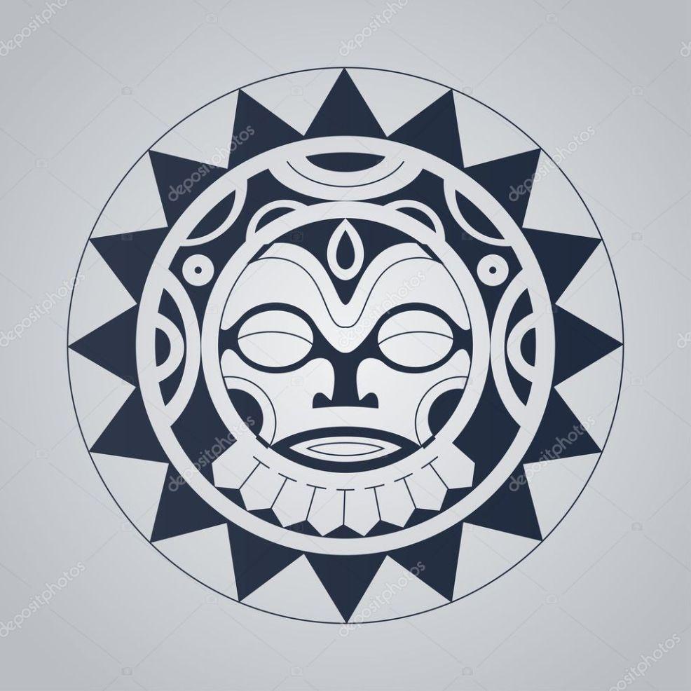 полинезийские татуировки в стиле векторное изображение Hyv123