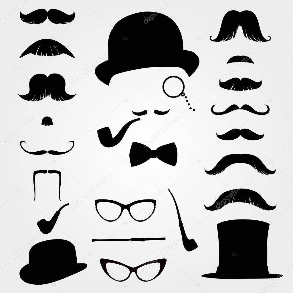 Mustaches And Other Retro Accessories