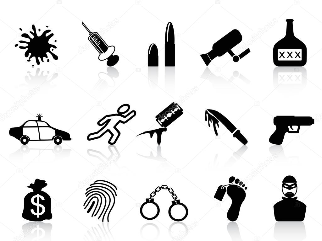 Crime Icons Set