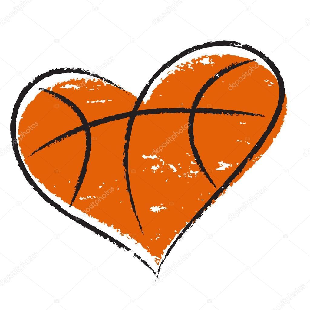 Download Basketball heart — Stock Vector © Olisia #21368947